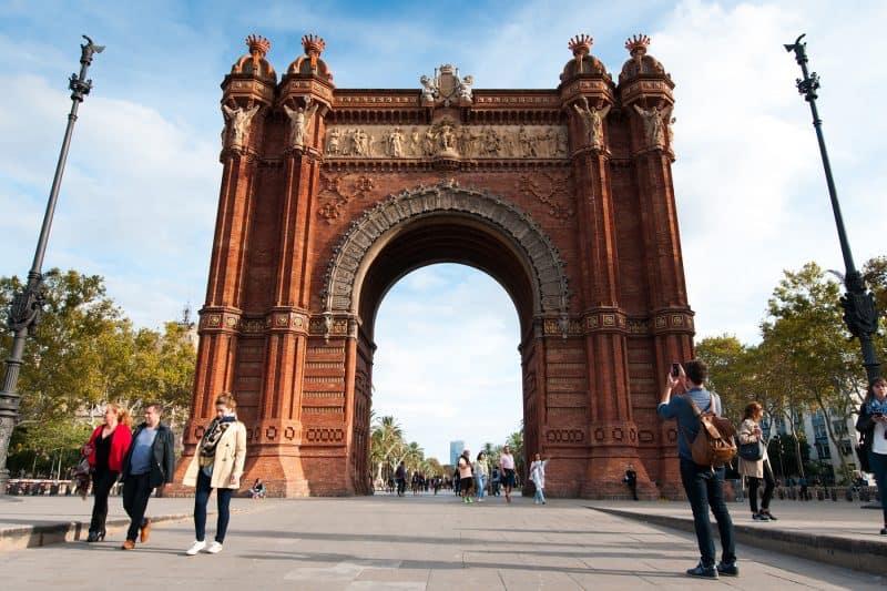 Arc de Triomf on Passeig de Sant Joan