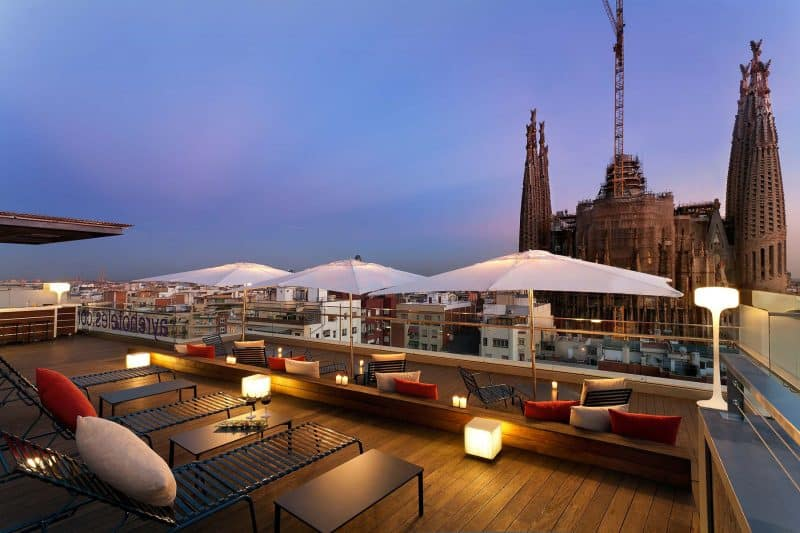 rooftop terrace bar hotel ayre rosellon