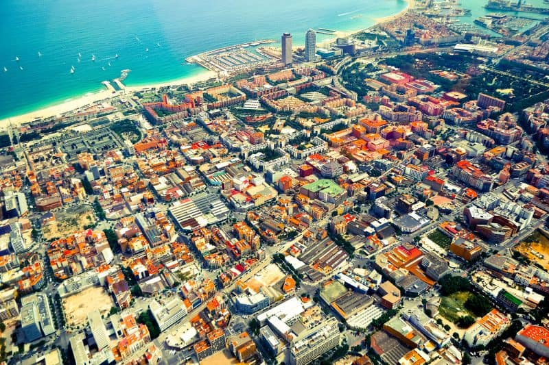 barcelona viewed from the air