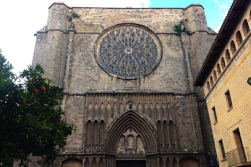 Santa Maria del Pi facade