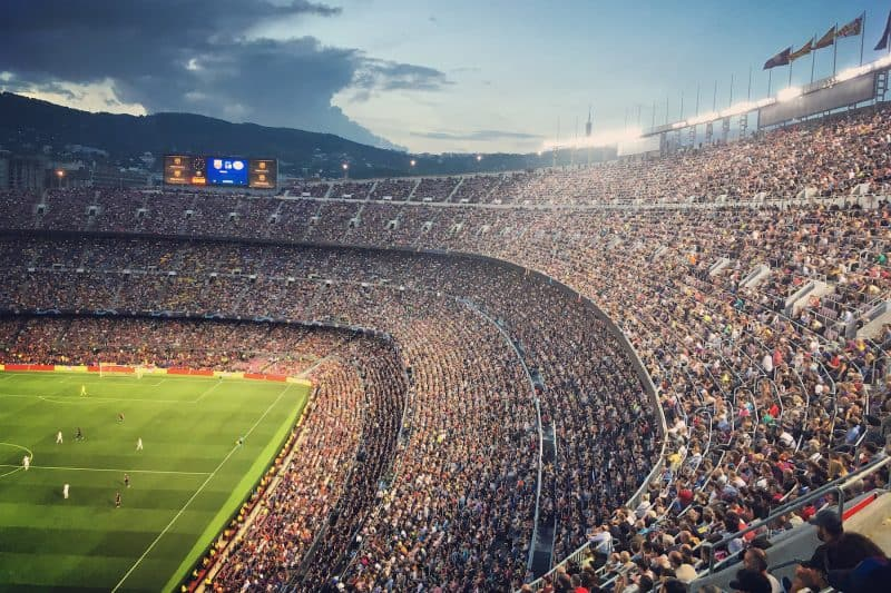The Camp Nou stadium full with supporters