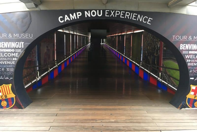 the entrance of the Camp Nou experience