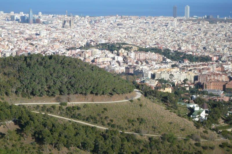 view of carretera de les aigues in barcelona