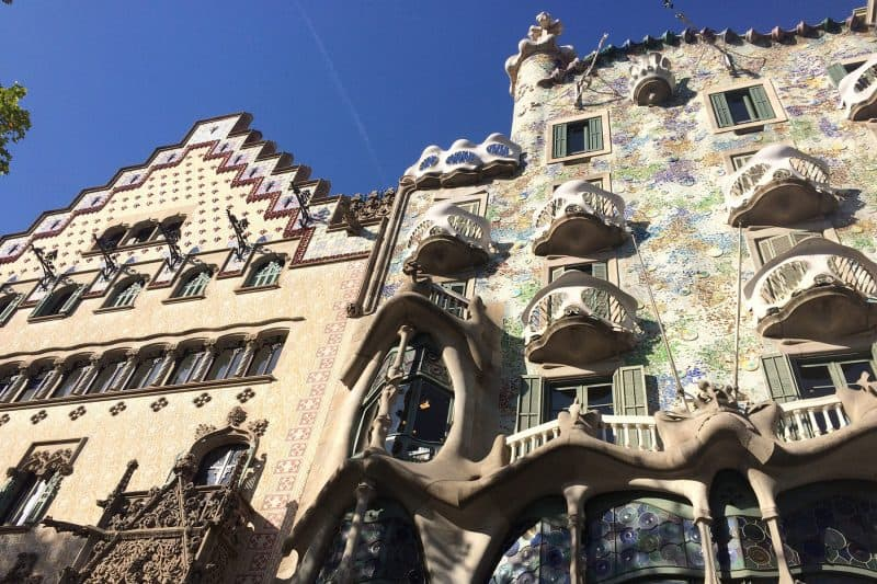 facades of casa batllo and casa amatller