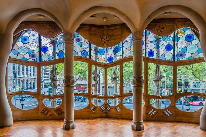 stained glass window in Casa Batlló