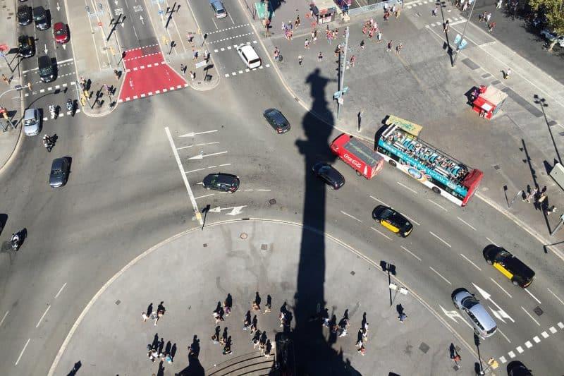 columbus monument view