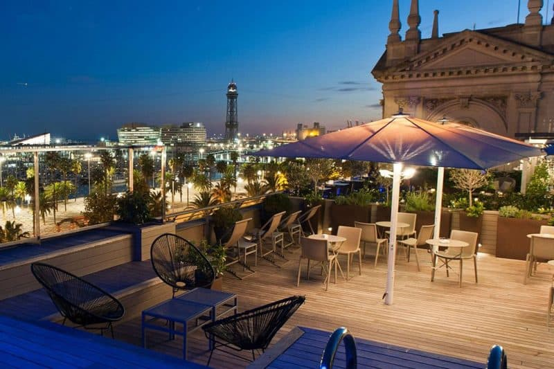 rooftop terrace bar hotel duquesa de cardona