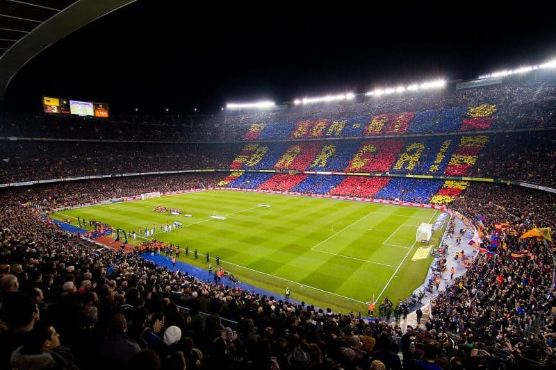 camp nou during match