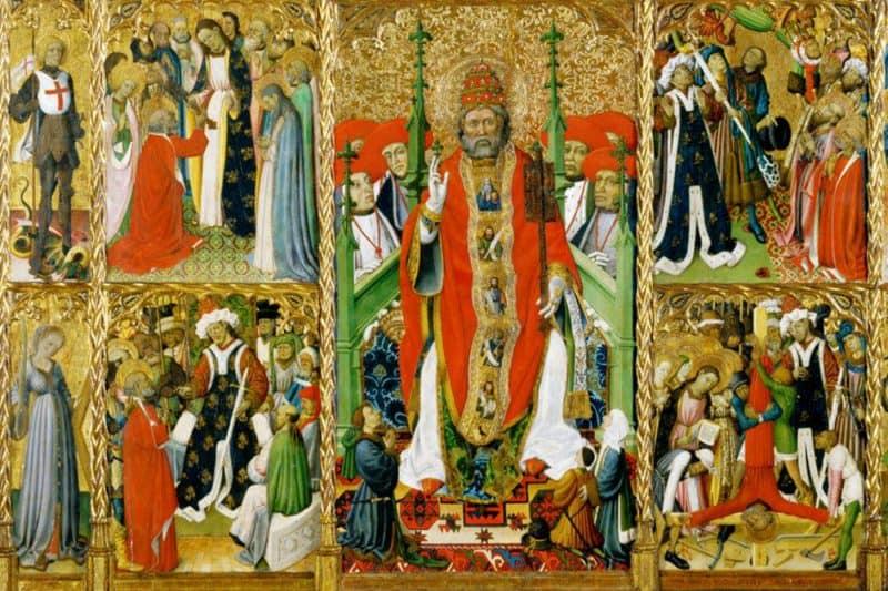 Retaule de Sant Pere de Púbol by Bernat Martorell
