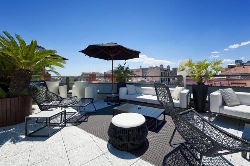 rooftop terrace bar hotel claris