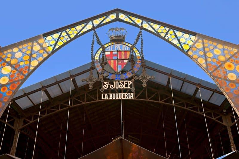 Entrance to la boqueria market