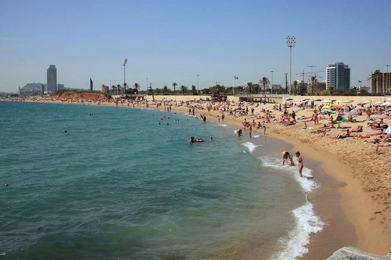 mar bella beach in barcelona