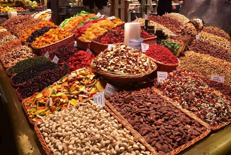 Lots of spices and nuts