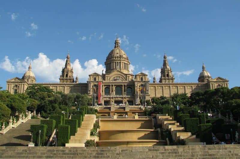 MNAC and montjuic stairs