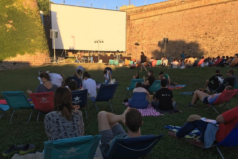montjuic outdoor cinema