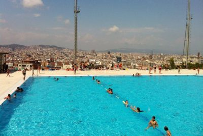 Barcelona olympic pool on montjuic