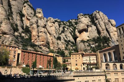 Montserrat abbey and mountains