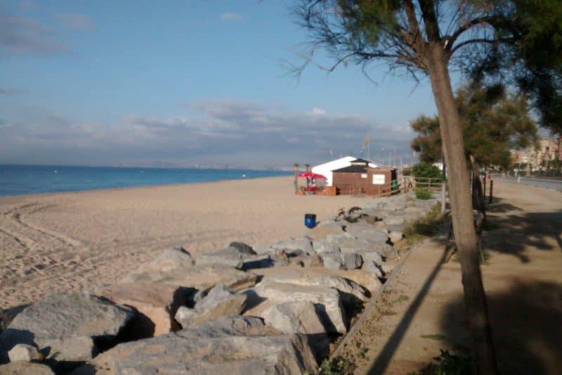 ocata beach near barcelona