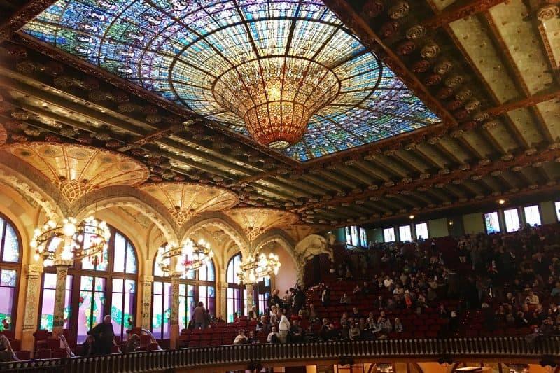 stained glass of el palau de la musica