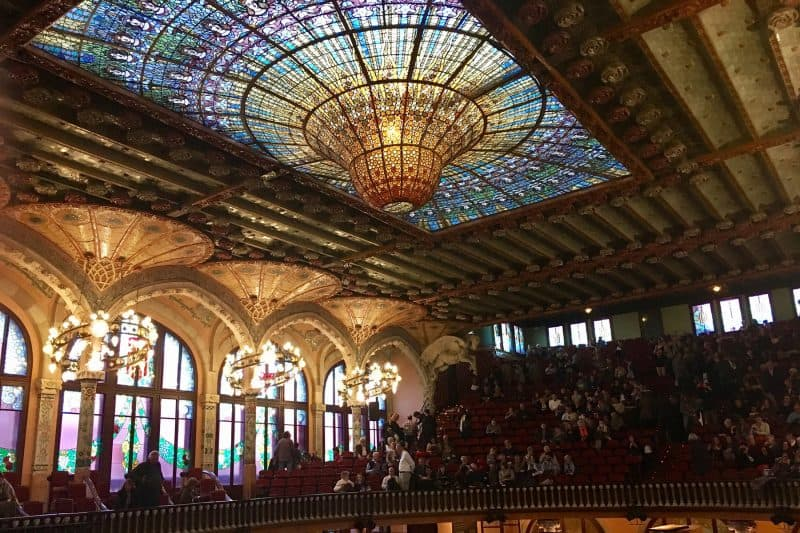 The Palau de la Música in Barcelona