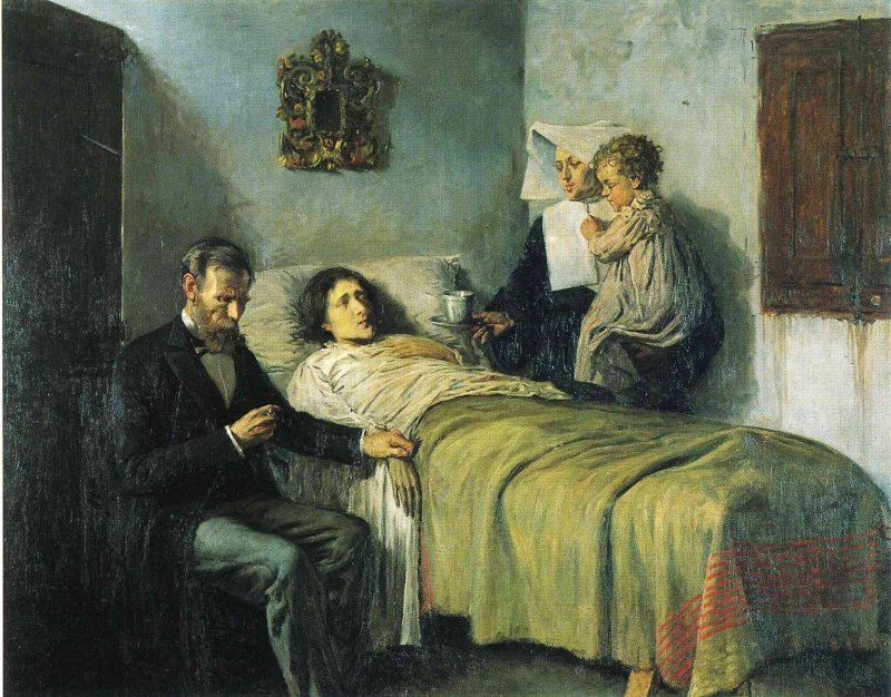 science and charity by Pablo Picasso