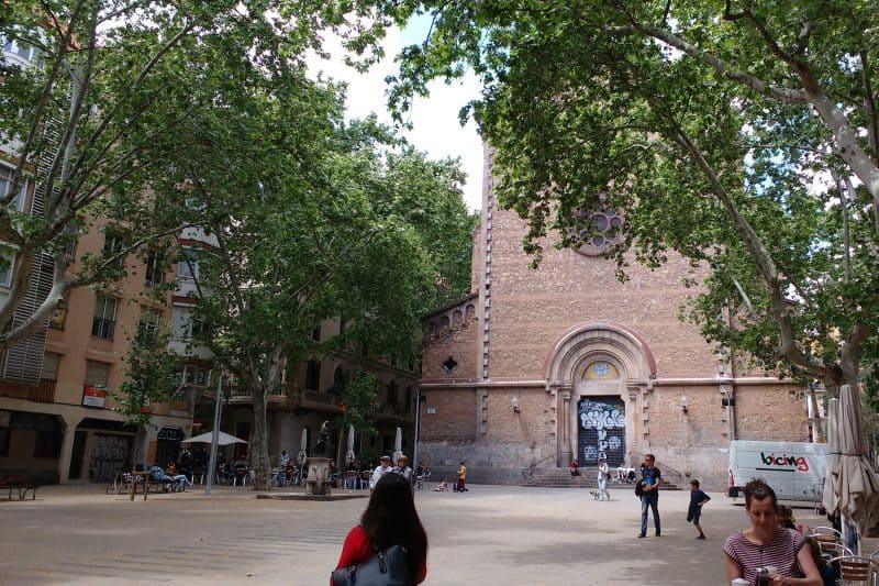 Plaça Virreina in Barcelona