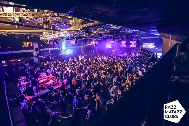 party at razzmatazz club in barcelona