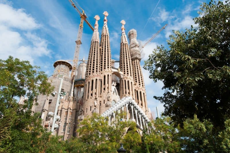 Side view from the Sagrada Familia