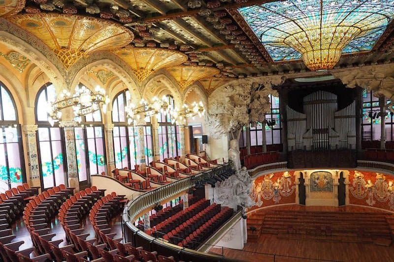 The concert hall Palau de la Musica