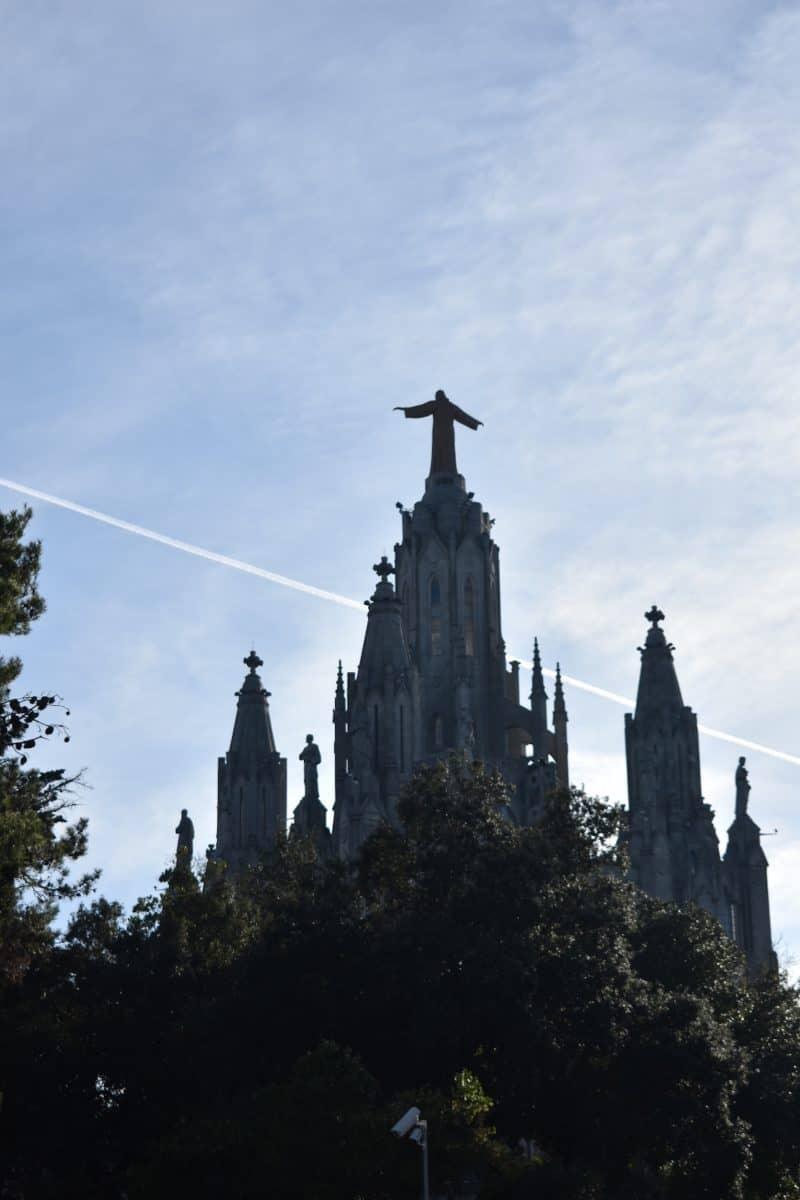 Church at the Tibidabo Mountain in Barcelona
